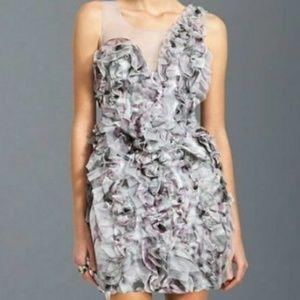 BCBG MAXAZRIA Eva Silk Organza Ruffle Petal Dress